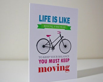 Life Is Like Riding A Bicycle Card