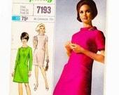 1960s A Line Dress, Mod Dress, Size 14, Bust 34, Long or Short Sleeve Dress, Designer Fashion