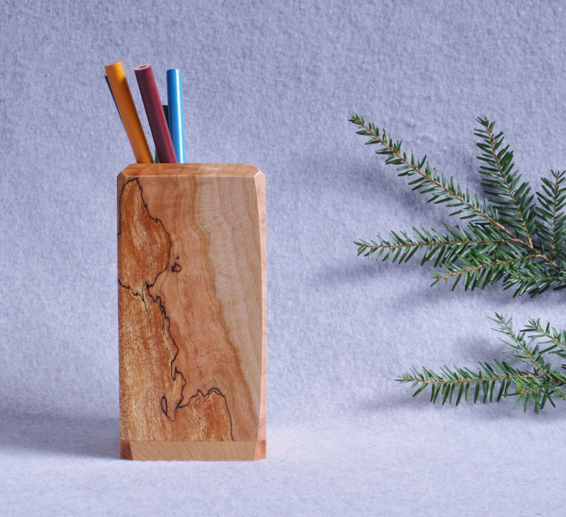 Unique Wood Pen Pencil Holder Father 39 S Day Gift