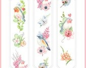 1 Roll of Limited Edition Washi Tape: Birds and Flowers