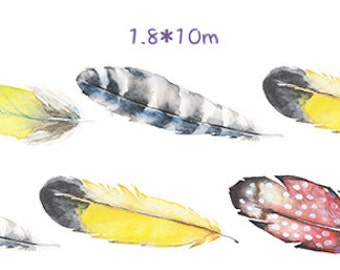 1 Roll Limited Edition Washi Tape: Feathers