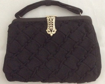 Black Quilted Evening Bag