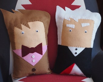SALE Ninth, Tenth, Eleventh or Twelfth Doctor - Doctor Who Inspired Felt Throw Pillow