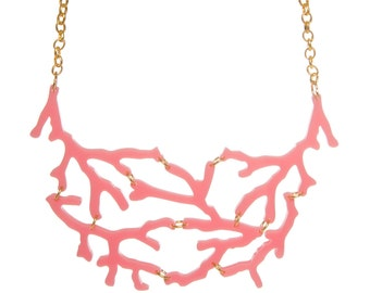 Coral necklace - laser cut acrylic