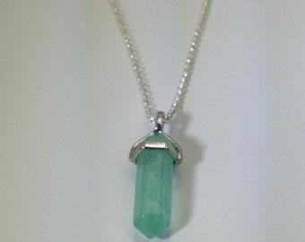 Green fluorite crystal necklace Crystal necklace, Sterling Silver Necklace Fluorite Jewelry Healing Crystals and Stones