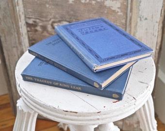 Three Blue Hardback Vintage Shakespeare Books