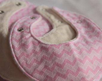 Dribble Bib Set: 2 Bibs, 4 Burp Cloths, 1 Hand Towel - Baby Present - Baby Gift - Baby Shower