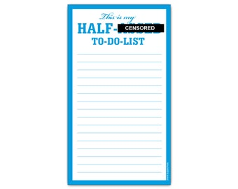 This is My Half A*** To Do List Funny Mature Magnetic Grocery List Notepad