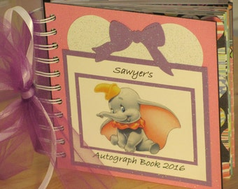 Disney Autograph Book with DUMBO the ELEPHANT
