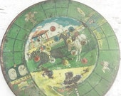 Christmas in July Very Vintage Racetrack Marble Tin Playing Board