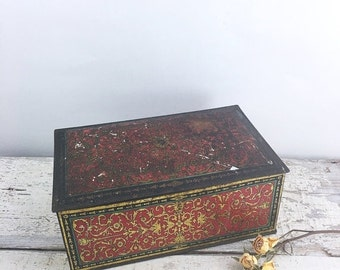 Christmas in July Large Vintage Canco Biscuit Tin