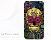 Sugar Skull  iPhone 6 Plus - 6s Plus Case - Colorful Sugar Skull Paisley Garden - Day of the Dead iPhone 6 Plus case - Dual Layer TOUGH Case