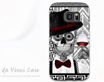 Sugar Skull Galaxy S7 EDGE Case - Premium Two Piece Samsung Galaxy S 7 EDGE Case with 1920's Day of The Dead Art - Mr JD Vanderbone