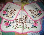 Vintage Embroidery Armchair Covers (Set of 3)