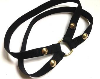 Garter sock garter-ring black