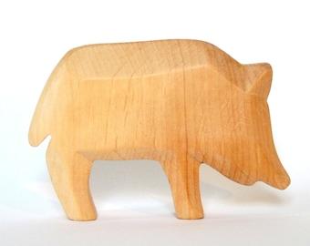 Wild Boar, Wooden Animals, Waldorf Toys