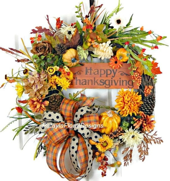 Thanksgiving wreath thanksgiving decor happy thanksgiving Happy thanksgiving decorations