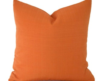 Outdoor Pillow Covers ANY SIZE Decorative Pillows Solid Orange Pillows Outdoor Pillow Terrasol Outdoor Sunsetter  Orange