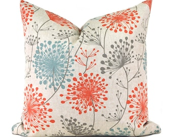 A Pillow Covers ANY SIZE Decorative Pillow Cover Floral Pillow Premier Prints Irish Daisy Byram
