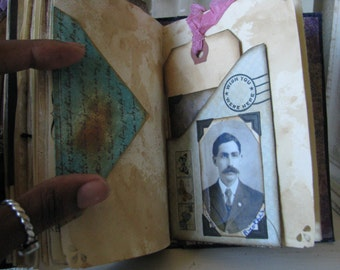 Mixed Media Altered Book Vintage Junk Journal