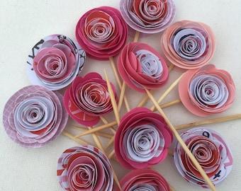 3-D Paper Flower Cupcake Topper
