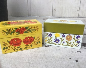 Recipe boxes, vintage