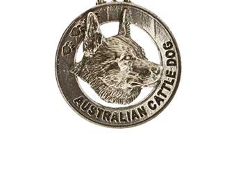 Pewter ~ Australian Cattle Dog Keychain ~ DK014
