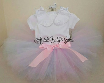 "The ""Cotton Candy"" Baby Girl Tutu Outift"