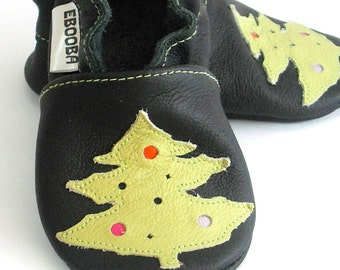 soft sole baby shoes infant kids children  christmas tree olive black  2 3 years ebooba TR-6-B-M-5