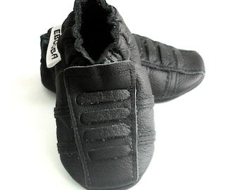 soft sole baby shoes sport black 0 6 m ebooba SP-6-B-T-1