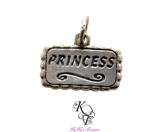 Princess Pendant Charm, 1 PC, Sterling Silver, Princess Charm, Charms, Pendants, Little Girl, Baby, Family