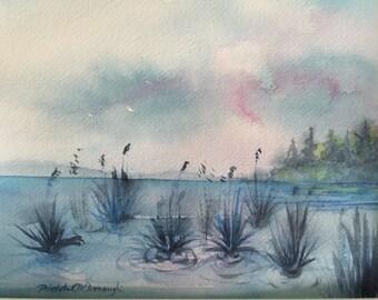 evening ~ original watercolor