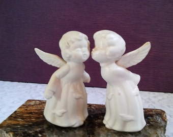 "Porcelain Twin Angels 5"" Tall"