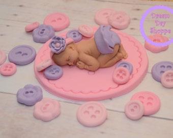 Cute as a button - girl