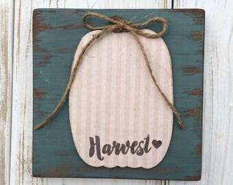 Harvest Pumpkin mixed media sign