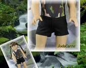 Black Spandex Shorts for American Girl Doll