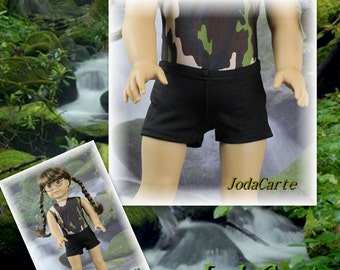 Black Spandex Shorts for American Girl Doll