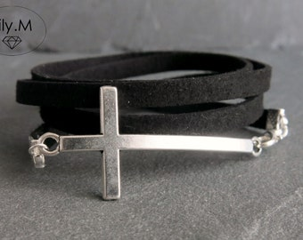 Bracelet Multi-Turn The Cross Silver ,Lily.M