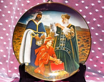 """Vintage """"The Gift Bearers""""  by Higgins Bond Collector's Plate w/COA"""
