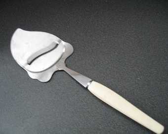 Vintage Stainless Steel Cheese Slicer With Cream Handle