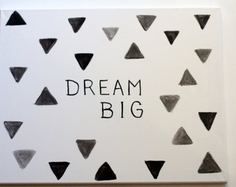 "Hand Painted - Canvas Art ""Dream Big"""