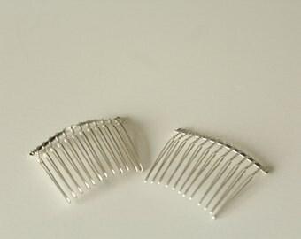 Bandeau Metal Hair Comb / Metal Comb / Diy hair comb / Veil Comb / Pair 2pcs