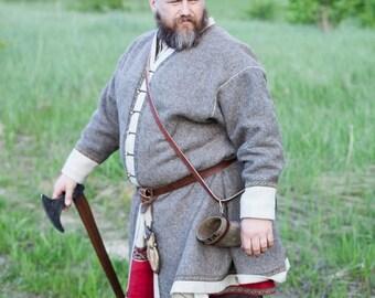 "Viking Overcoat Kaftan ""Olaf the Stormbreaker""; Medieval Coat; Viching Coat"