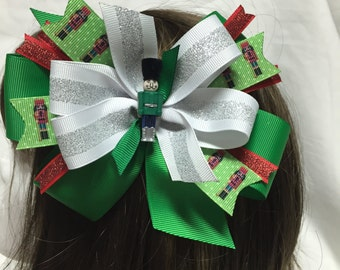 The Nutcracker in Green Head Band or Hair Bow