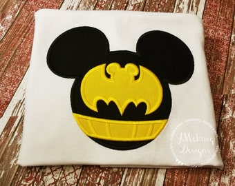 Bat Super hero Mouse Custom embroidered Disney Inspired Vacation Shirts for the Family! 49