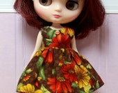 BLYTHE Middie doll Its my party dress - fall flowers