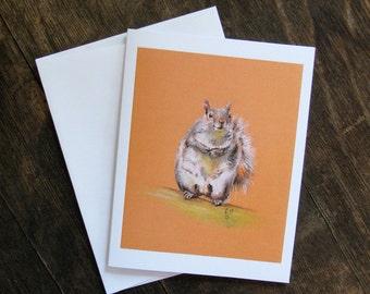 Grey Squirrel Card