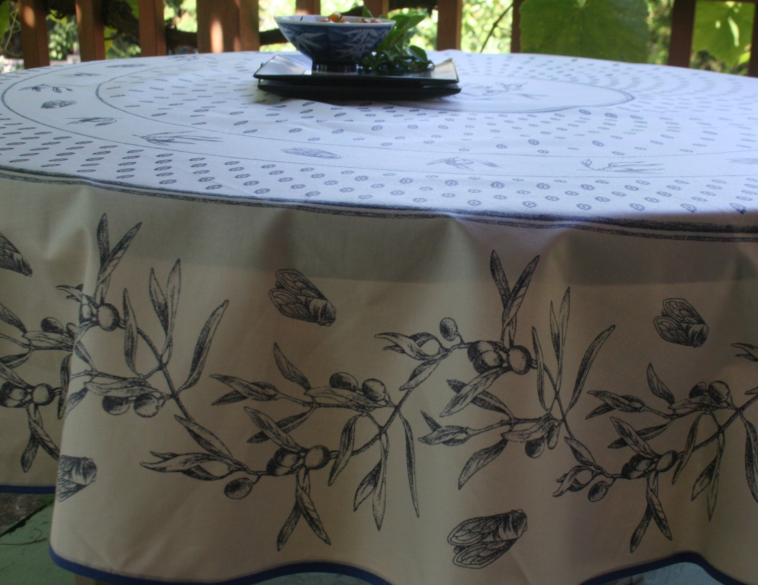 70 French Provence Round Oilcloth Cotton Coated