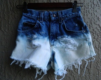 High Waist Ombre Shorts Size 00
