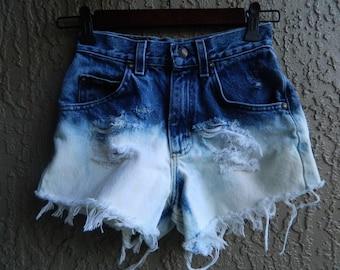 High Waist Ombre Shorts Size 00